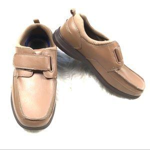 Dr. Scholls Mens 10.5 One Strap Comfort Shoes Tan